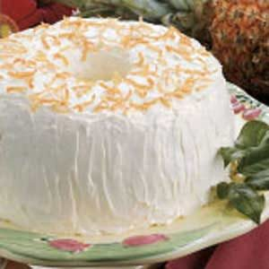 Pineapple-Coconut Angel Food Cake