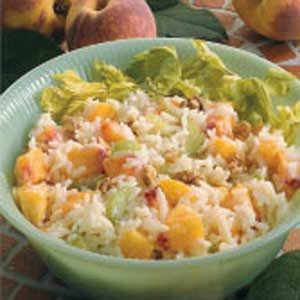 Peachy Rice Salad Recipe