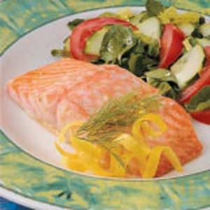 Caesar Salmon Fillets Recipe photo by Taste of Home