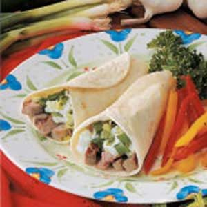 Greek Pork Wraps Recipe