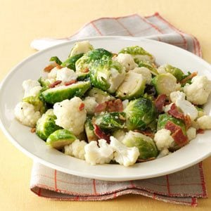 Roasted Brussels Sprouts & Cauliflower Recipe