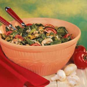 Spinach Salad with Spicy Honey Dressing