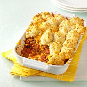 Bubbly & Golden Mexican Beef Cobbler Recipe