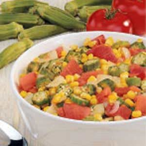 Okra Medley Recipe