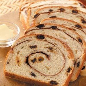 Swirled Cinnamon Raisin Bread Recipe