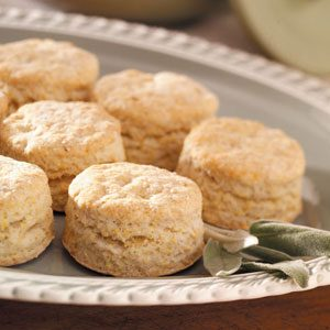 Sage Cornmeal Biscuits Recipe