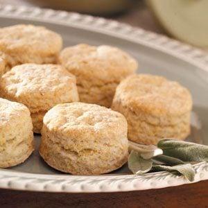 Sage Cornmeal Biscuits Recipe