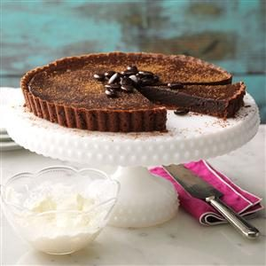 Dark Chocolate Truffle Tart Recipe