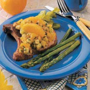 Smoked Pork Chops with Dressing Recipe