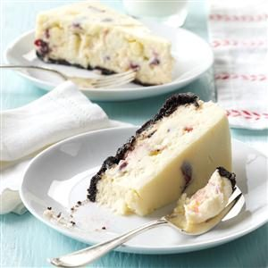 Cranberry White Chocolate Chunk Cheesecake