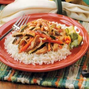 Cranberry Turkey Stir-fry Recipe