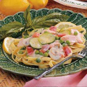 Salmon Fettuccine Recipe