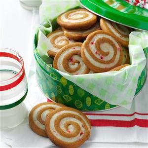 Gingerbread Peppermint Pinwheels Recipe photo by Taste of Home