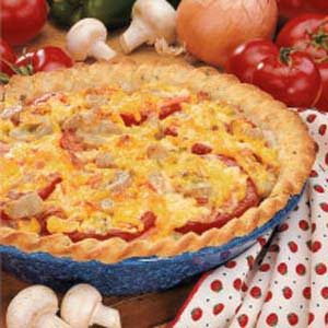 BLT Brunch Pie Recipe