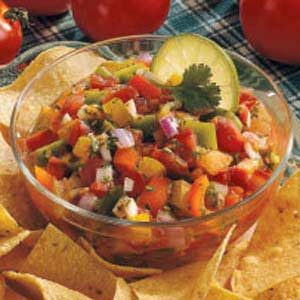 Four-Tomato Salsa Recipe