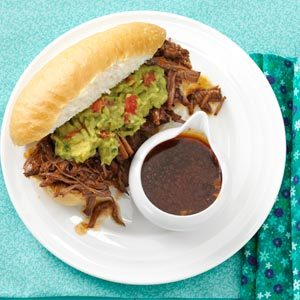 Machaca Beef Dip Sandwiches Recipe
