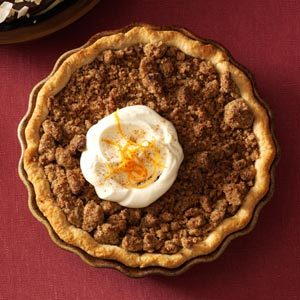 Orange Sweet Potato Pie with Ginger Streusel Recipe
