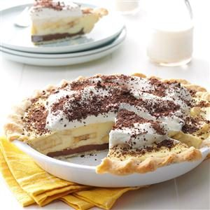 Creamy Chocolate-Banana Pie Recipe