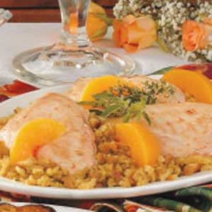 Chicken with Peach Stuffing Recipe