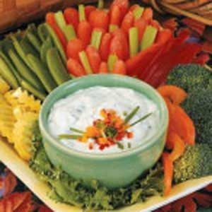 Chive-Onion Vegetable Dip Recipe