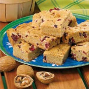 Cranberry Walnut Bars Recipe