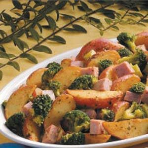 Garlic Potatoes and Ham Recipe