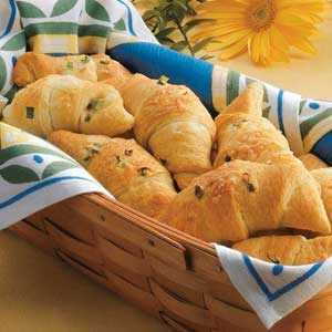 Swiss Onion Crescents Recipe