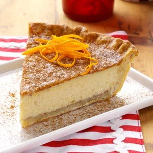 Orange Natilla Custard Pie Recipe