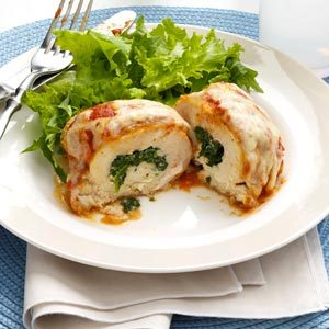 Spinach-Stuffed Chicken Parmesan Recipe