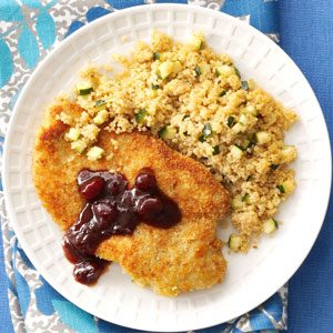 Pan-Fried Chicken with Hoisin Cranberry Sauce