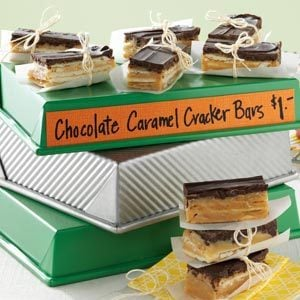 Chocolate Caramel Cracker Bars Recipe