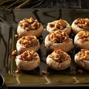 Nutty Stuffed Toadstools Recipe