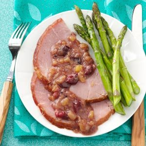 Ham with Cranberry-Pineapple Sauce Recipe