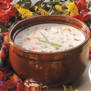 Creamy Wild Rice Soup with Ham Recipe