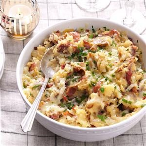 Bacon-Gruyere Smashed Potatoes Recipe