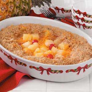 Crumb-Topped Baked Pineapple Recipe