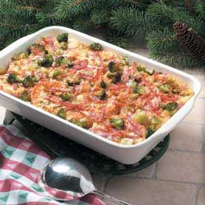 Ham and Broccoli Strata Recipe