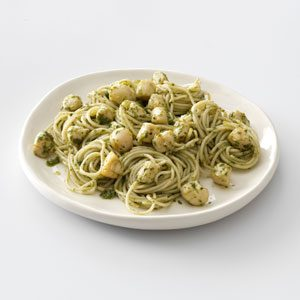 Pesto Vermicelli with Scallops Recipe