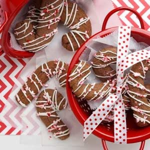Chocolate Candy Cane Cookies Recipe