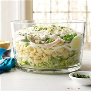 Make-Ahead Hearty Six-Layer Salad Recipe