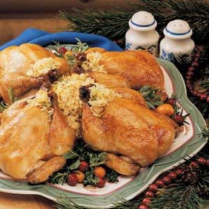 Orange-Glazed Cornish Hens Recipe