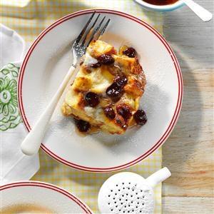 Orange Breakfast Souffle with Dried Cherries Recipe