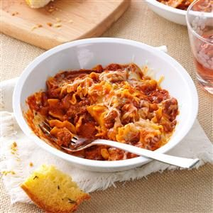 Spicy Lasagna Skillet Dinner Recipe
