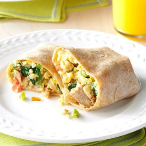 Italian Sausage Breakfast Wraps Recipe