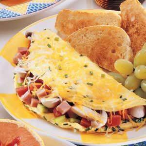 Deluxe Ham Omelet Recipe