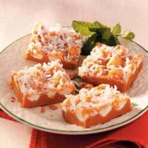 Butterscotch Coconut Squares Recipe