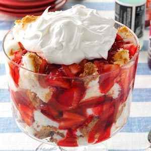 Strawberry Angel Trifle