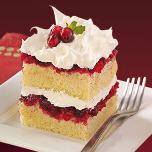 Cranberry-Topped Cake Recipe