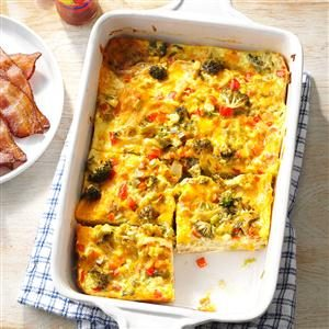 Colorful Broccoli Cheddar Casserole