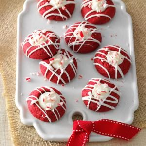 Red Velvet Peppermint Thumbprints Recipe